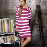 Вязаное двухцветное платье мягкое, теплое, приятное к телу
