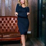 Вязаное элегантное платье очень мягкое, теплое, приятное к телу