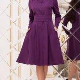 Красивое платье с карманами и пышной юбкой ткань костюмка барби скл.1 арт. 49211