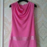 Размер 10,10-12 Яркая нарядная фирменная натуральная блузка майка