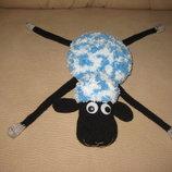 Вязанный барашек Шон, овечка амигуруми 38 см