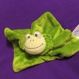 Лягушка.жаба.лягушонок.жабка.комфортер.пальчиковый театр.мягка іграшка.мягкие игрушки.Babylove