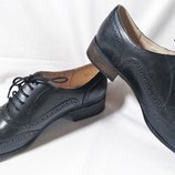 Туфли женские оксфорды кожаные черные Clarks Размер 40 UK7D
