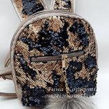 Детский рюкзак с ушками, с бамбоном и пайетками