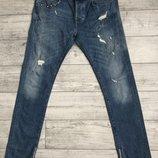 Джинси Zara Destroyed Zip Jeans