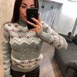 Зимний новогодний свитер