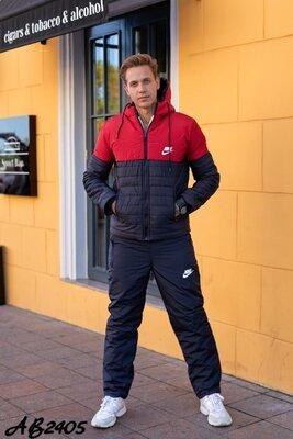 мужской лыжный костюм , зимний костюм, мужской костюм зима, костюм плащевка, костюм синтепон