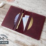 Кредитница визитница мини кошелек карт холдер из натуральной кожи