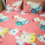 Hello Kitty Детский постельный комплект Яркая милая расцветка Отличное качество