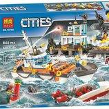 Конструктор Bela City 10755 Штаб береговой охраны 844 дет.