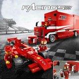 Конструктор Lepin 21022 Грузовик Ferrari аналог Lego Racers 8185 , 554 дет