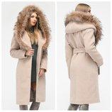 Женское зимнее пальто с натуральным мехом X-Woyz 8815 42-48 размер
