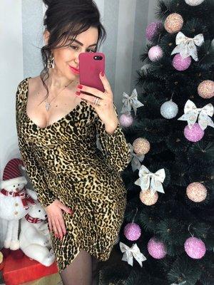 Платье леопард вы в тренде