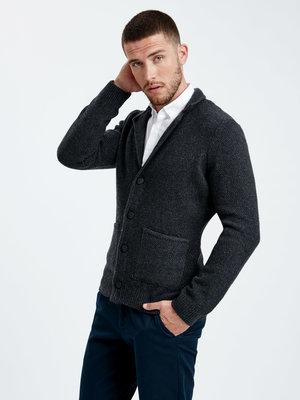 Мужской пиджак LC Waikiki / Лс Вайкики серый, на пуговицах, с карманами