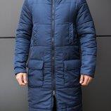 Пальто парки куртки зимние мужские Jacket Tank Navy