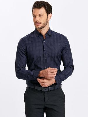 Продано: Темно-Синяя мужская рубашка LC Waikiki / Лс Вайкики в атласную клетку
