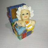 Коллекционная фарфоровая фигурка статуэтка ребенок кукла фарфор