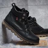 Зимние ботинки на меху Levi's Genuine, черные р. 40 - 45