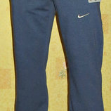 Спортивные летние штаны Nike прямые синий меланж.