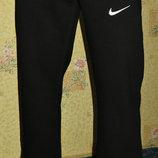 Спортивные летние штаны Nike прямые черные