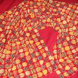 шаль платок Fabric Frontline zurich оригинал 761Х131 Швейцария шелк принт Божья коровка