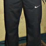 Спортивные летние штаны Nike прямые темно - серые.