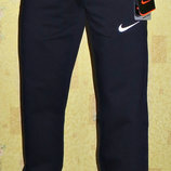 Летние спортивные штаны Nike на манжете темно - синие.