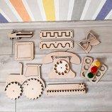 заготовки для бизиборда, комплектующие, аксессуары для доски Монтессори своими руками