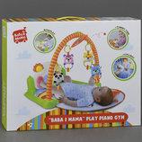 Развивающий Коврик игровой музыкальный с дугой для малышей HX7101A