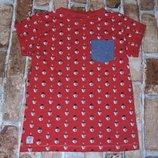 футболка новогодняя хб 7лет Некст сток большой выбор одежды 1-16лет