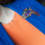 Стильная яркая разноцветная брошь рыбка из бисера, ручная работа
