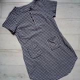 Платье рубашка в клетку р. 12