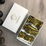 Набор мужские трусы 3 шт Underwear Versace Pack 3 Gold White/Black/Gray