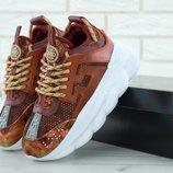 Versace Chain Reaction Sneakers, женские кроссовки версаче