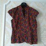 Размер 8 Яркая фирменная хлопковая блузка рубашка
