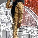 Женский зимний костюм комбинезон мех чернобурка