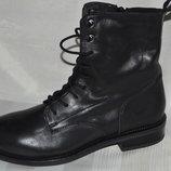 Ботинки черевики кожа zign кожа размер 41 42, ботінки шкіра