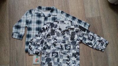 Распродажа остатков Детские рубашки с начесом,р.80-86