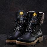 Ботинки Best Vak Timberland из натуральной кожи на меху, код gavk-35-01w