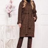 Пальто П-304-100 З коричневое пальто на зиму