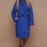 Пальто П-304-100 З зимнее пальто цвета электрик