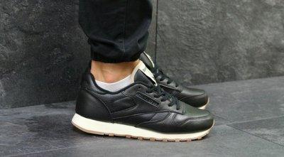 99c847ee Мужские черные кожаные кроссовки Reebok Classic Leather: 1200 грн ...