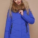 Куртка 18-129 короткая куртка цвета электрик сиреневого синего желтого