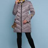 Куртка 18-71 серая хаки черный волна зимняя куртка