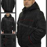 48-58, Демисезонная мужская куртка, Мужская куртка с манжетами. Куртка с капюшоном. короткая