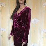 Платье бархатное вечернее marks&spenser 18 размер