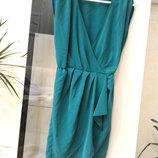Стильное зеленое платье на запах topshop Турция