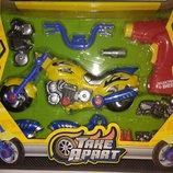 Мотоцикл - конструктор, и ещё 3 вида машин - конструкторов