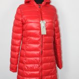 - 20 Удлиненная красная куртка пальто для девочки Mixture Италия