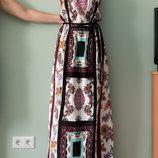 Новое вискозное платье до середины икры с карманами